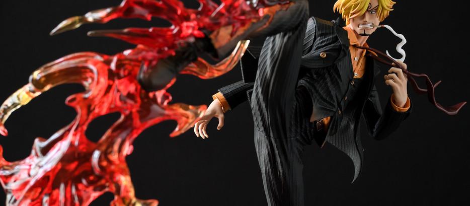 [模型攝影 | 婚攝Andy濬瑋] 海賊王 香吉士 GK雕像 Hunter Fan Studio ヴィンスモーク・サンジ 模型攝影