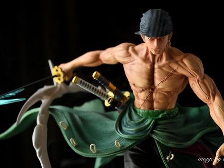 [模型攝影 | 婚攝Andy濬瑋] 海賊王 索隆 GK雕像 HUNTER FAN STUDIO ロロノア·ゾロ 模型攝影