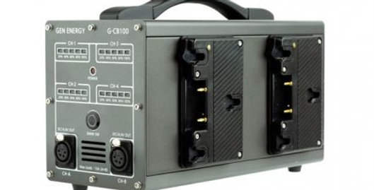 GEN Energy 4-Channel Simultaneous Fast Gold Mount Charger and Power Station (6A)