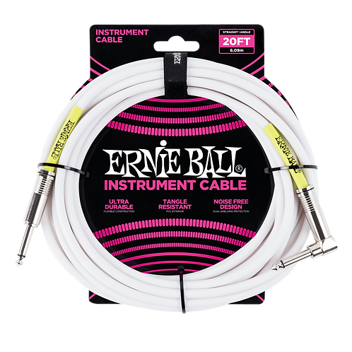 ULTRAFLEX 20FT STRAIGHT/ANGLE INSTRUMENT CABLE - WHITE