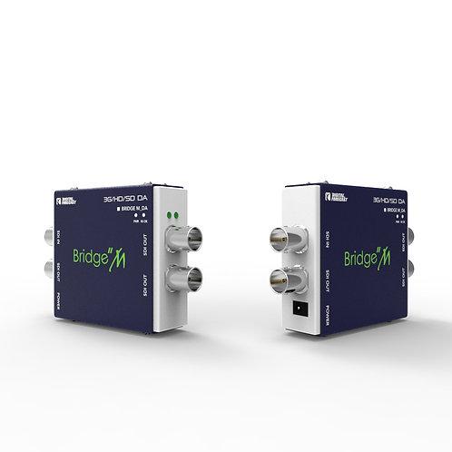 DIGITAL FORECAST Bridge Micro 3G/HD/SD-SDI Recloking 1x3 Video Distribution Ampl
