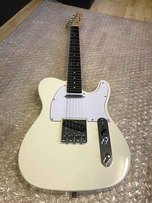 Aria 615 Frontier Telecaster Electric Guitar In Ivory White Finish