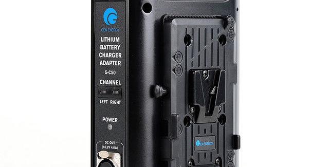 GEN ENERGY 2 Channel Charger for V-mount Battery, 16.8V / 2.6A