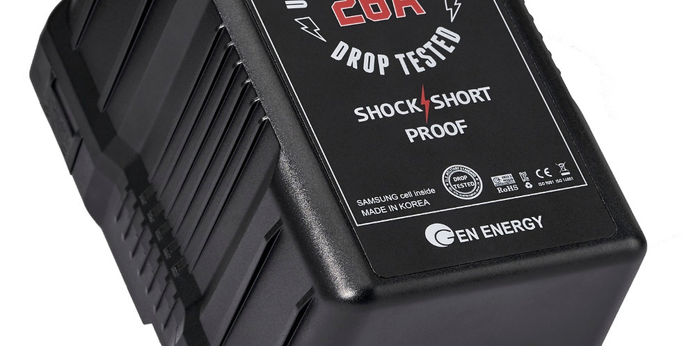 GEN ENERGY MONSTER 390Wh / 27.2Ah Li-Ion V-Mount Battery (26A Max. Discharge)
