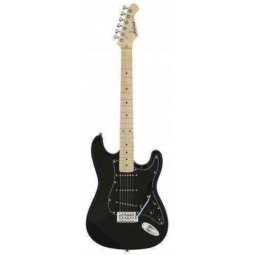 Aria Pro ii STG-003SPL BK - 6 String Stratocaster Electric Guitar - Maple