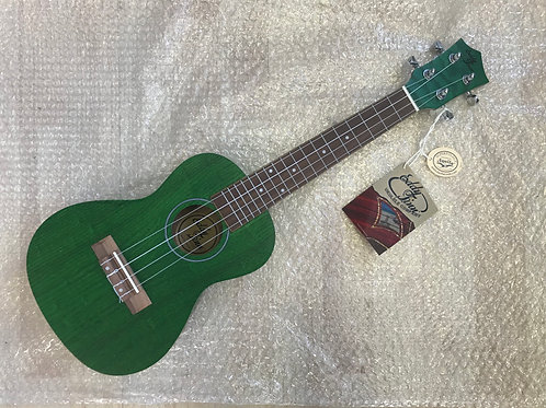 Eddy Finn EF-ASH Green Concert Ash Ukulele with Aquila Strings