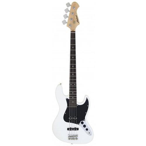 AriaPro ii STB - JB/W - 4 String Electric Jazz Bass (White)