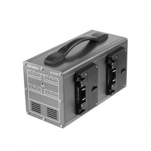 GEN ENERGY 4-Channel Simultaneous Gold Mount Charger (3.5A)