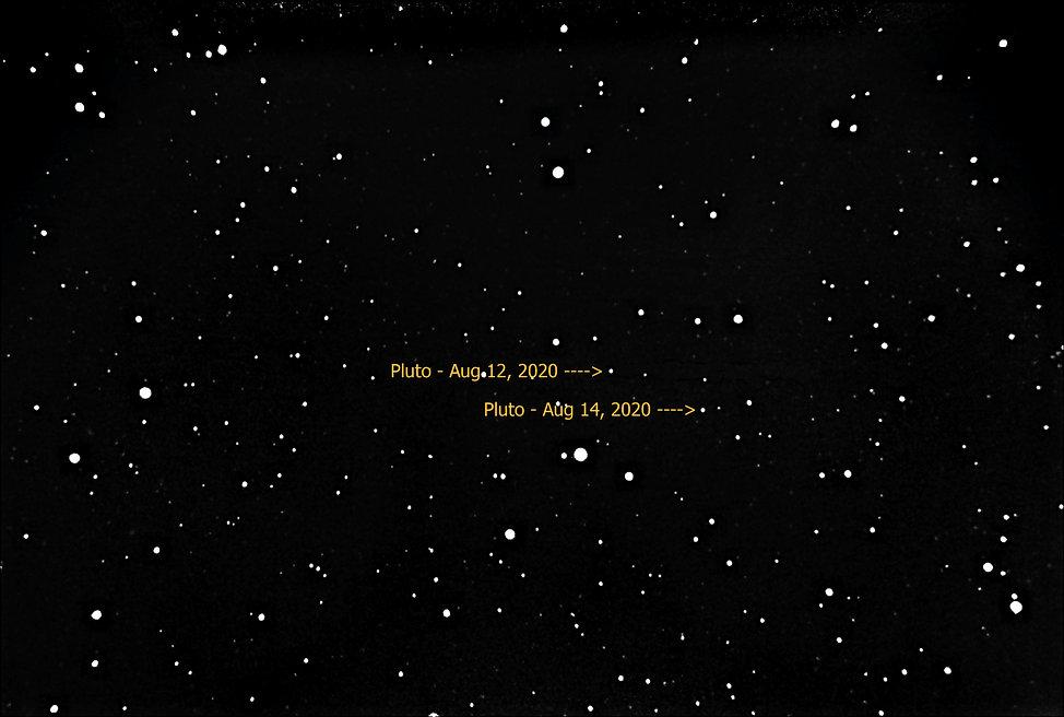 Pluto at Mag 14.3 (E=8.8m 20cm SCT F5.6
