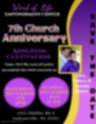 Copy of Anniversary Church Flyer - Made