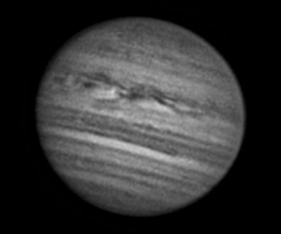 Stacked and processed photo of Jupiter