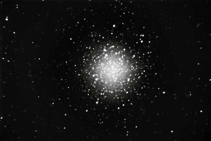 M71 taken with an amateur telescope from a city balcony.