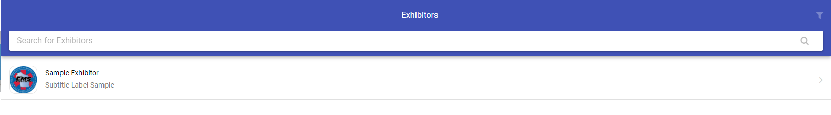 Sample Exhibitor Page