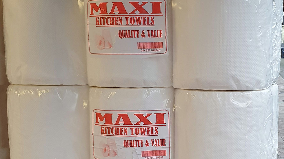 60 Maxi White Centrefeed Rolls 2 Ply, 300 Sheets FAST & FREE DELIVERY