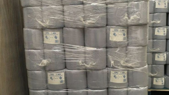 1 Pallet Blue Centrefeed Rolls, Blue Rolls 70 Cases X6. FAST &FREE DELIVERY