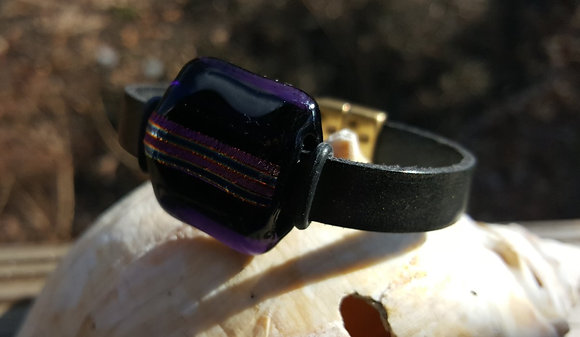 Purple Fire  Magnetic Bracelet