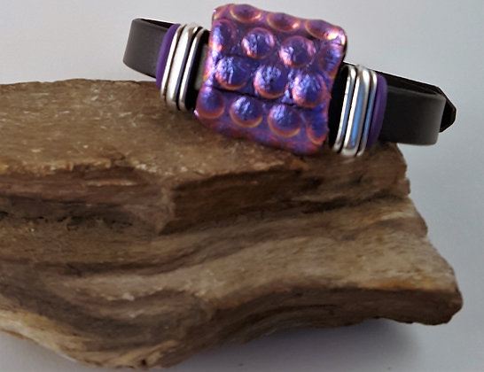 Brilliant Purple Dream Buckle Bracelet