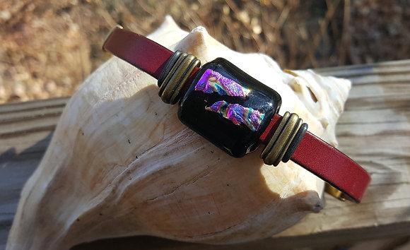 Raspberry Beret Magnetic Bracelet