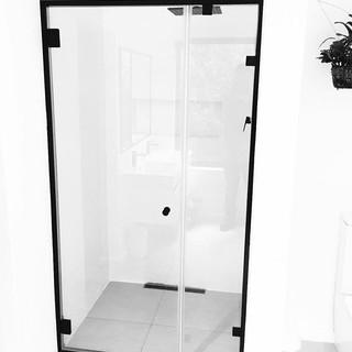 Steel black shower
