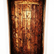 Arch timber door made from salvage timber