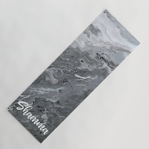 Personalized marble gray yoga mat