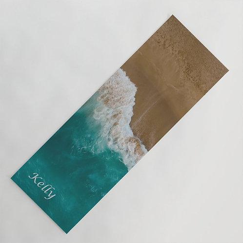 Personalized ocean yoga mat