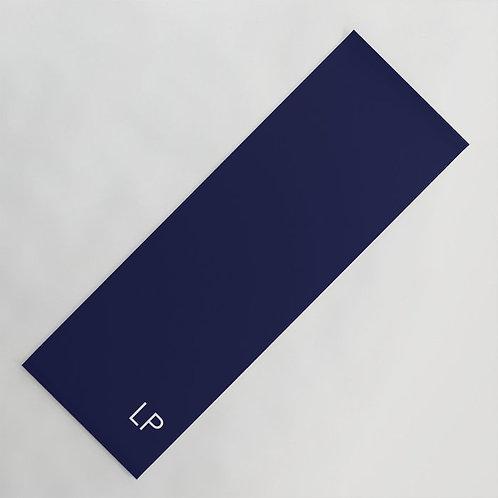 Dark blue personalized yoga mat