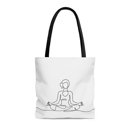 Line Art Yoga Tote Bag