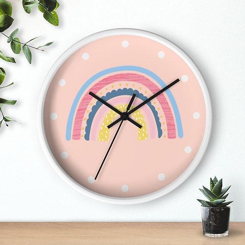Rainbow Wooden Wall clock | Girl's Room Decor
