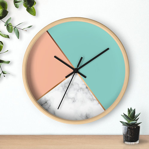 Modern Geometric Round Wall clock