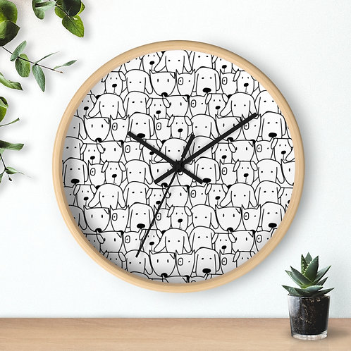 Wall clock, dogs, funny dogs