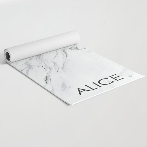 Marble personalized yoga mat