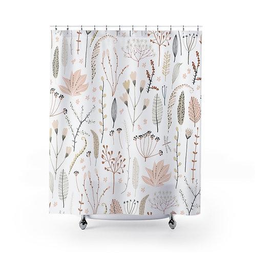 Floral Shower Curtain | Bathroom Décor | Watercolor Elements