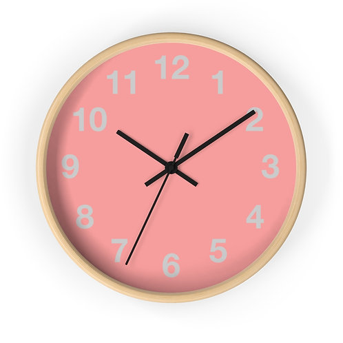 Wall clock, bush pink