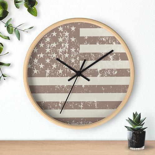 American Flag,  Modern Minimalist Wall Clock