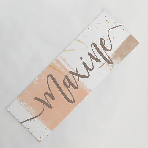 Personalized watercolor gym mat