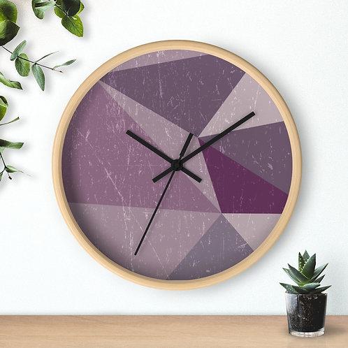 Wall clock, purple tones