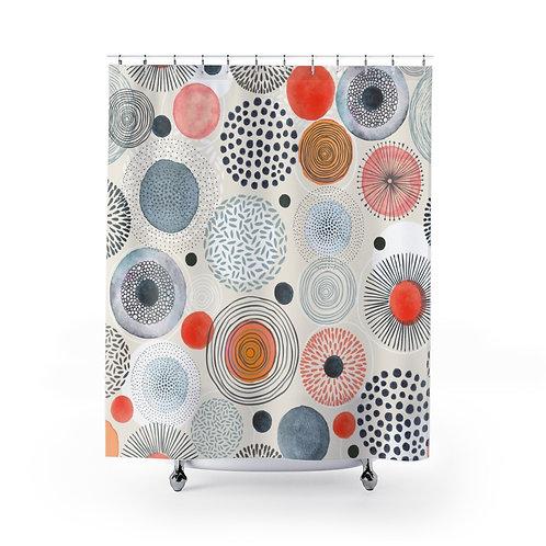 Unique Shower Curtain | Bathroom Décor | Watercolor Elements