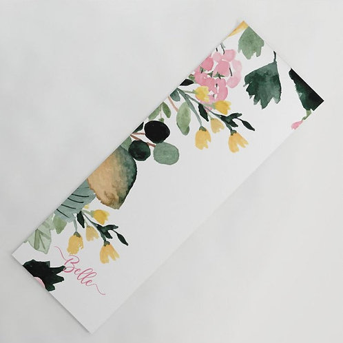 Personalized Floral Yoga Mat