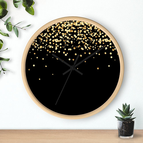 Wall clock, confetti