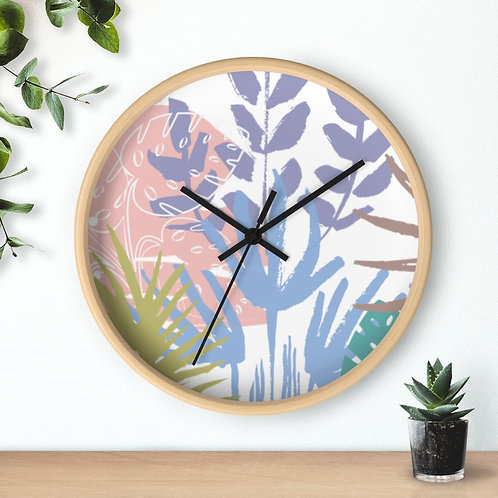 Wooden Round Wall clock, abstract wall decor