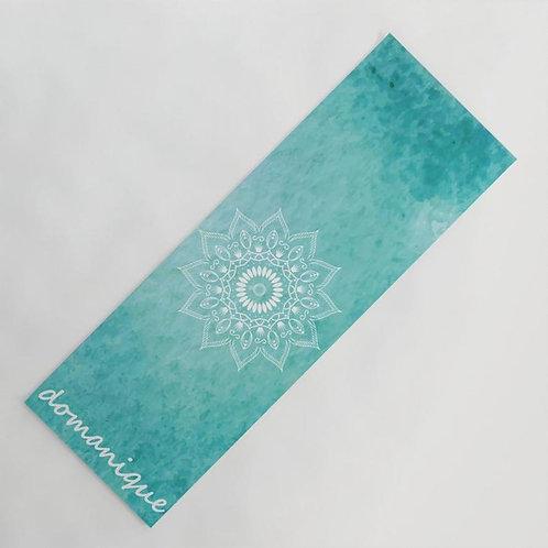 Personalized Turquoise Mandala Yoga Mat