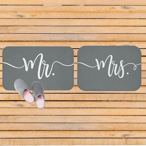 Matching Mr. and Mrs. Bath Mats
