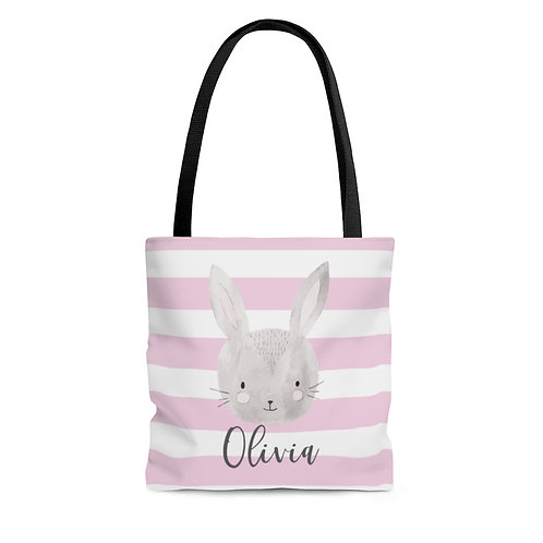 Cute Personalized Bunny Tote Bag | Custom Name Gift For A Girl