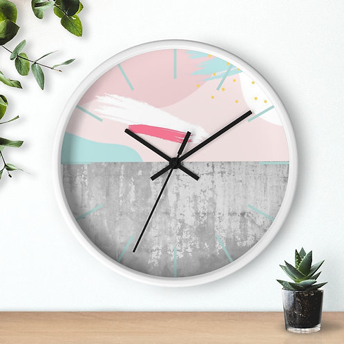 Contemporary Abstract Design Round  Wooden Wall clock