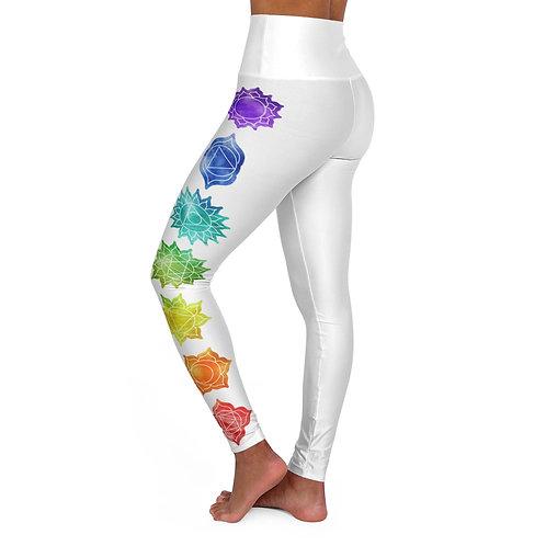 Chakras Yoga and Meditation Pants    High Waisted Yoga Leggings