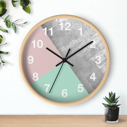 Geometric Minimalist  Round Wall clock