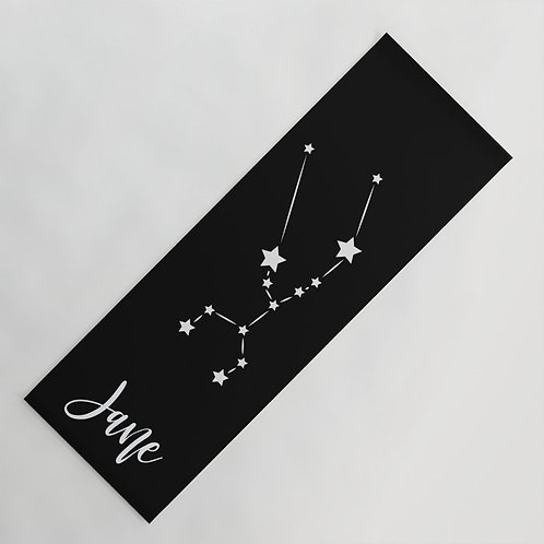 Zodiac Sign Custom Yoga Mat  | Personalized Spiritual Yoga Mat