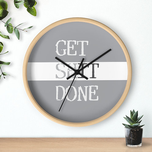 Copy of Funny Wall Clock, Get Shit Done