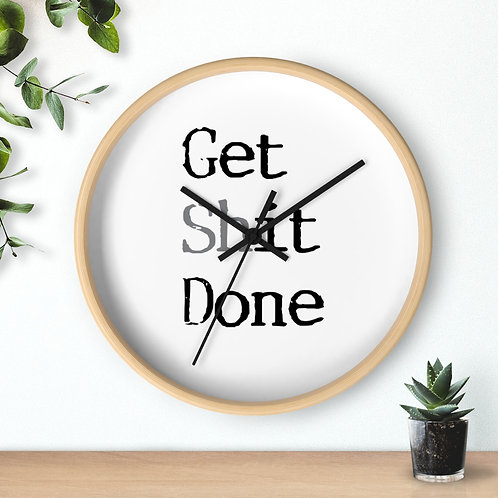 Funny Wall Clock, Get Shit Done